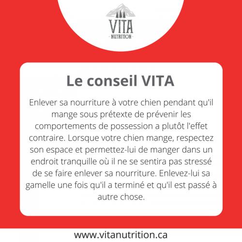 La possession de nourriture| Le Conseil Vita | Vita Nutrition Animale - www.vitanutrition.ca